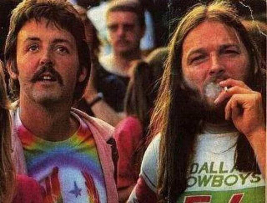 Paul McCartney e David Gilmour
