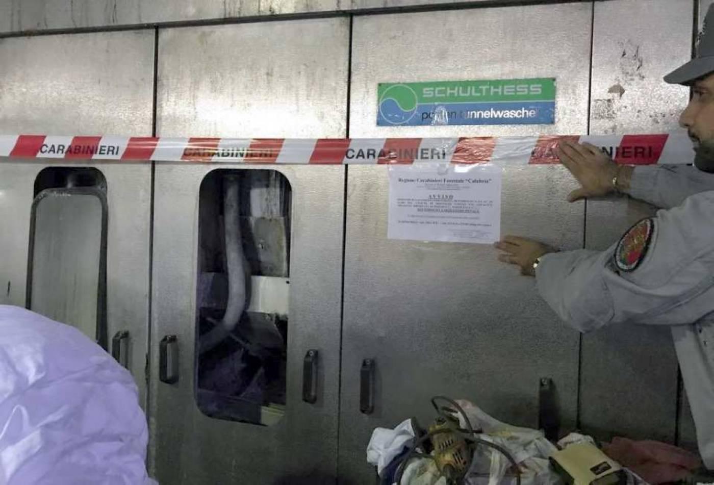 Sequestrate due lavatrici in lavanderia per assenza di autorizzazioni allo scarico