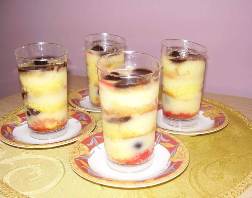 Zuppa inglese all'amarena