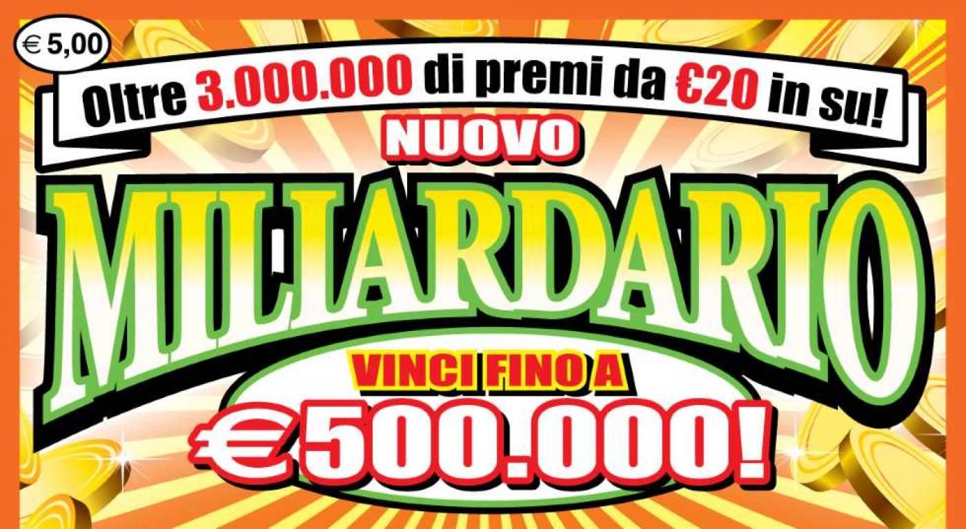 Vinti 500mila euro con un gratta e vinci da 5 euro