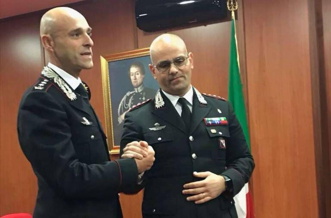 Cambio al vertice Provinciale dell'Arma: Ottaviani cede il Comando a Sutera